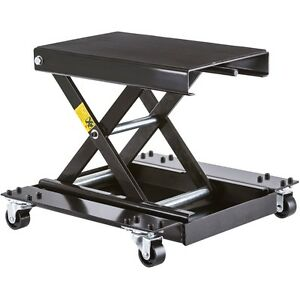 Motorcycle Jack Scissor Lift For Motorcycles Portable With Dolly Steel Casters