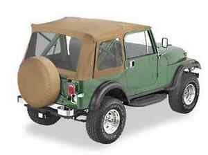 1976 1995 Jeep Cj7 Wrangler Bestop Supertop Soft Top 51599 37 Spice Fabric New