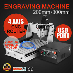 4 Axis Engraver Usb Cnc3020t Router Engraving Drilling Milling Machine 3d Cutter