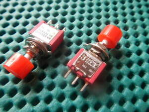 100pcs Spdt 3pin Momentary Red Push Button Switch New Ds612 Nr