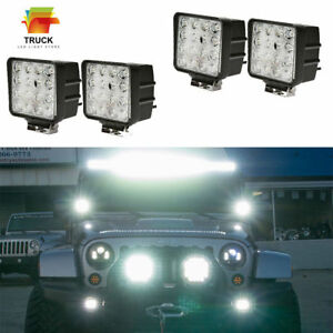 4x 4inch 48w Led Work Light Bar Flood Suv Boat Driving Lamp Offroad 4wd Ute Atv