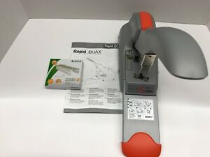 Rapid Duax Heavy duty Stapler 2 170 Sheet Capacity Silver orange 73338 Office