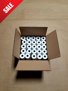 100 Rolls Of 2 1 4 X 70 Thermal For First Data Fd400gt Credit Card Terminal