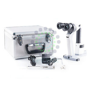 Portable Handheld Slit Lamp 3900 Microscope With Case Li ion Ce Approval B new