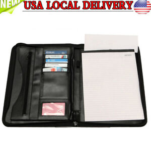 New Pu Leather A4 Folder Business Conference Meeting Document Organizer Holder