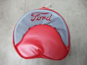 Ford Tractor Tie Pan Seat Cover red Grey New Made In Usa 8n 2n 9n 600 800