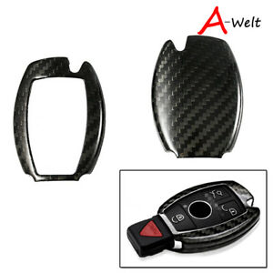 Carbon Fiber Remote Smart Key Fob Cover For Mercedes Benz Amg All C E S M Class