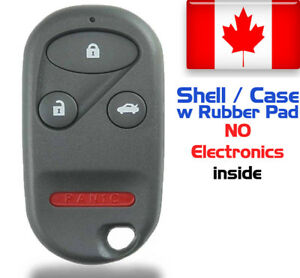 1x New Replacement Keyless Remote Key Fob For Honda Accord Acura Shell Only
