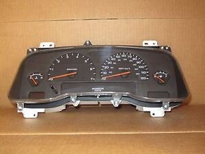 2004 04 Dodge Dakota Truck Man Trans 4 Gauge Speedometer Cluster 63k