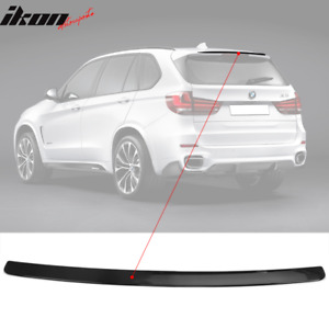 Fits 14 17 Bmw F15 X5 M Performance Rear Roof Spoiler Wing Abs Gloss Black