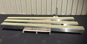 Lot Of 30 Feet Alliance 7 5 Inch Wide Stainless Steel Table Top Conveyors