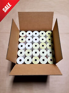 50 Rolls 3 X 95 2 ply Carbonless For Verifone Printer 900 Tranz 330