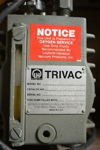 Trivac D2ac Rotary Vane Dual Stage Mechanical Vacuum Pump