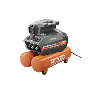 Ridgid 200 Psi Electric Quiet Compressor Zrof45200ss Recon
