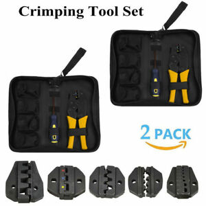 2x Electrical Wire Connector Terminal Crimping Tool Crimper 0 5 35 Mm Awg Hm