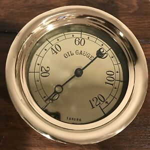 rare antique Unnamed Navy 7 Oil Gauge Industrial Steam Steampunk Shined