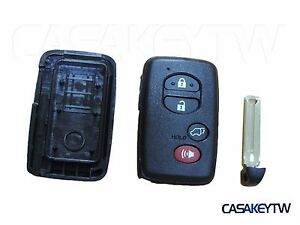 New 4 Button Smart Key Case Shell Fob For Toyota Rav4 Highlander Prius