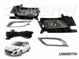 New 2010 2011 Mazda 3 Fog Light Lamp Foglight Kit Set Pair Foglamp Rh Lh