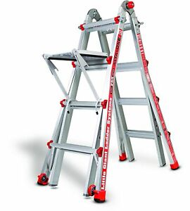 Little Giant Alta One 17 Foot Ladder With Work Platform 250 lb Weight Rating