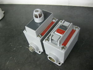 Allen Bradley 800h Start Stop Switch Pilot Light Control Station Haz Location