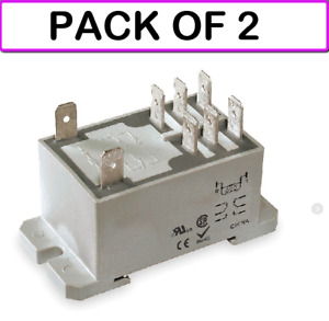 2 pack Dayton 1ejg7 Relay power dpdt 120vac coil Volts