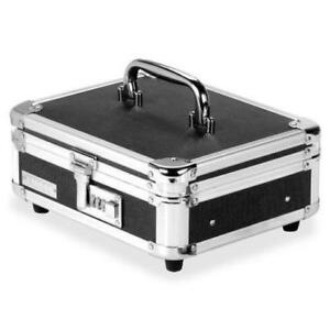 Vaultz Black Combination Locking Cash Box With Tray Office Security Storage New