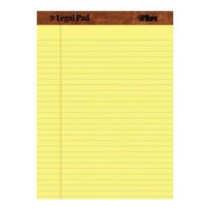 Tops 8 5 X 11 75 The Legal Pad Perforated Legal wide Rule 50 Sheets Per Pad 12