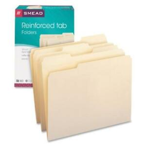 Smead 10334 File Folders 1 3 Cut Assorted Reinforced Top Tab Letter Manila box