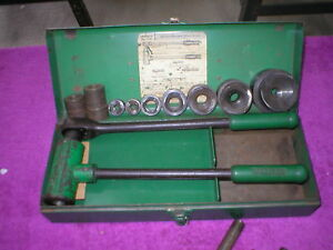 Greenlee 1804 Ratchet Knockout Punch Set reduced