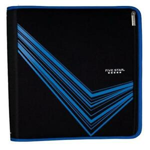Five Star Xpanz Blue 2 3 ring Zipper Binder With Removable Pencil Pouch Durable