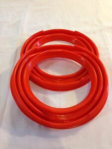 Pair Of Rockwell Orange 2 5 Ton Axle Boots Dust Seals M35 Military Truck Deuce