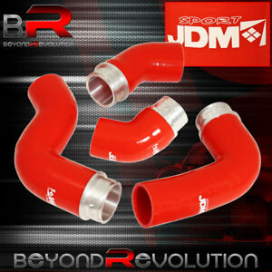 Jdm Upgrade Silicone Radiator Hose Red For 2006 2009 Vw Mk5 Golf Jetta Gti 2 0t