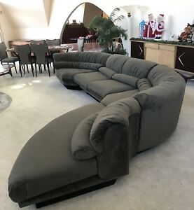 Mid Century Modern 4 Piece Serpentine Sofa Lane Restored