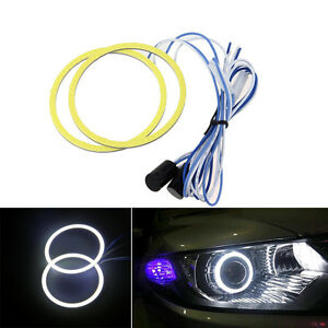 2pcs 90mm Cob Led Fog Light Projector Car White Angel Eyes Halo Ring Drl Lamp