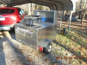 All American Hot Dog Cart Used In Good Condition 24 Inch Grill 3 Burner Warmer