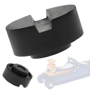 Black Rubber Slotted Floor Jack Pad Frame Rail Adapter For Pinch Weld Side Pad