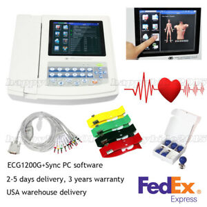 Us Seller 12 channel 12 Lead Ecg ekg Electrocardiograph realtime Analysis