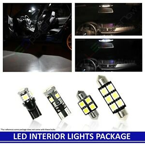 White Led Interior Lights Replacement Kit Fits 2001 2005 Honda Civic Si 7 Bulb