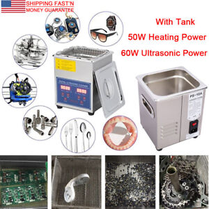 Stainless Steel 2l Digital Industrial Heated Ultrasonic Cleaner W Tank Timer