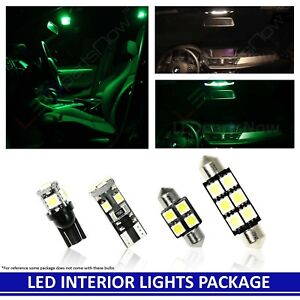 Green Led Interior Lights Reverse Replacement For 2018 Toyota Sienna 4 Bulbs