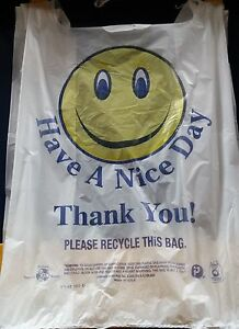 500 Thank You Bags Plastic Have Nice Day Shopping Grocery Storage Baggies