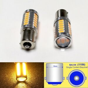 1156 P21w 3497 7506 33 Led Projector Amber Bulb Rear Signal B1 For Audi Vw U