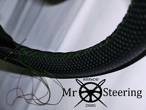 Fits 1953 71 Vw Beetle Perforated Leather Steering Wheel Cover Green Double Stch