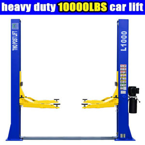 10 000 Lb Capacity L1000 2 Post Car Lift Auto Truck Hoist Brand New