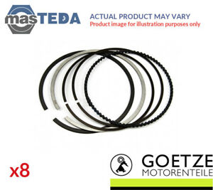 8x Engine Piston Ring Set Goetze Engine 08 109600 00 I Std New Oe Replacement