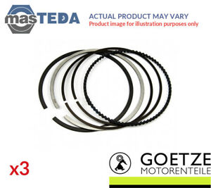 3x Engine Piston Ring Set Goetze Engine 08 439600 00 I Std New Oe Replacement