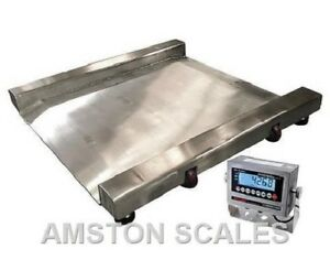 1000 X 0 2 Lb Digital Drum Scale Ntep 28x28 Washdown Stainless Pallet Shipping