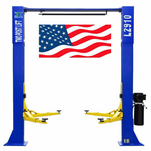 L2910 2 Post Car Lift 9 000 Lb Over Head Auto Hoist Clear Floor