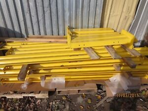 Wilgard Mt Steel Warehouse Guard Rails Barrier Rail Forklift Guard Rack 4 Piece