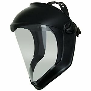 Uvex S8510 Bionic Shield Black Matte Face Shield Clear Polycarbonate Anti fog